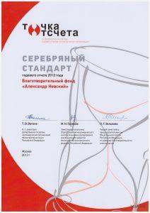 Серебряный стандарт 2012