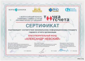 Сертификат соответствия годовых отчетов